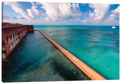 Walls of Fort Jefferson, Dry Tortugas, Florida Canvas Art Print