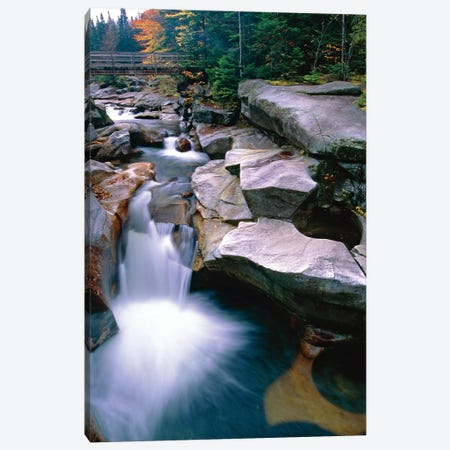 Waterfall on the Ammonoosuc River near Mount Washington, New Hampshire Canvas Print #GOZ236} by George Oze Art Print