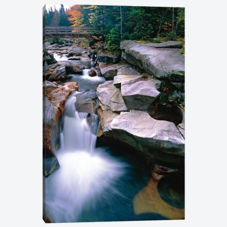 Waterfall on the Ammonoosuc River near Mount Washington, New Hampshire Canvas Print #GOZ236} by George Oze Art Print