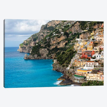 Coastal Scenic Town Of Positano Canvas Print #GOZ253} by George Oze Canvas Art