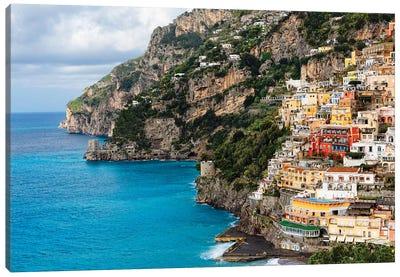 Coastal Scenic Town Of Positano Canvas Art Print