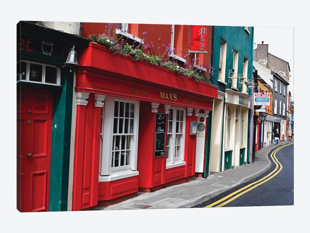 Colorful Narrow Street In Kinsale, County Cork, Republic Of Ireland by George Oze 1-piece Art Print