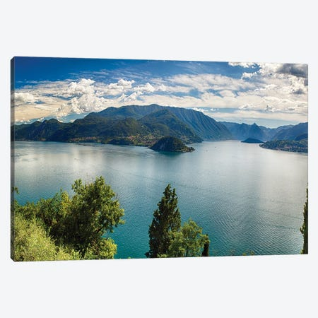 Lake Como Panoramic View 3-Piece Canvas #GOZ262} by George Oze Art Print