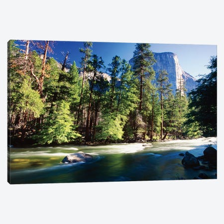 Merced River With The El Capitan, Yosemite National Park, California Canvas Print #GOZ266} by George Oze Canvas Artwork