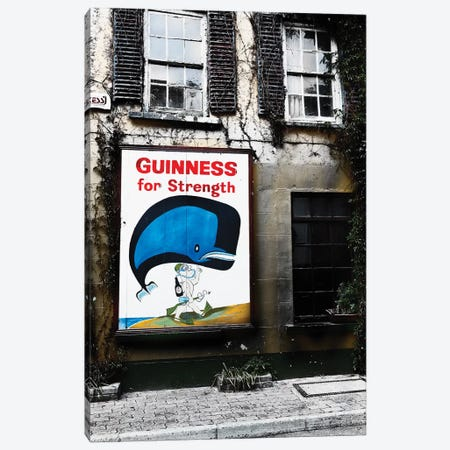 Old Guiness Sign On A House, Kinsale, Coubty Cork, Republic Of Ireland Canvas Print #GOZ269} by George Oze Canvas Print