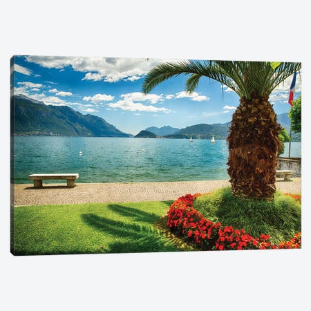 Scenic View Of Lake Como From Park, Maggiore, Lake Como, Lombardy, Italy Canvas Print #GOZ280} by George Oze Canvas Art Print