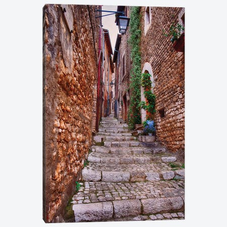 Sermoneta Alley Canvas Print #GOZ281} by George Oze Art Print