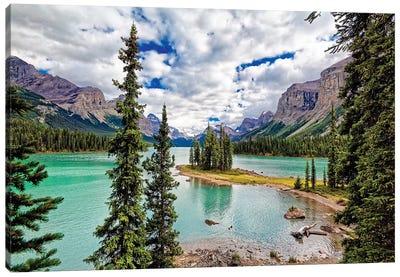 Spirit Island View, Maligne Lake, Alberta, Canada Canvas Art Print