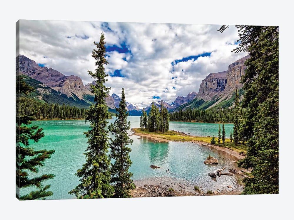 Spirit Island View, Maligne Lake, Alberta, Canada by George Oze 1-piece Canvas Art
