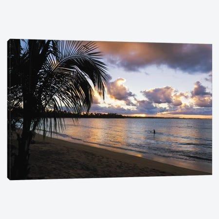 Caribbean Sunset, Vacia Telaga Beach, Pinones Nature Preserve, Puerto Rico Canvas Print #GOZ28} by George Oze Canvas Print