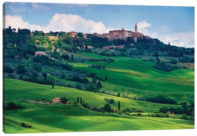 View Of The Town Pienza In A Tuscan Countryside, Italy Canvas Art Print