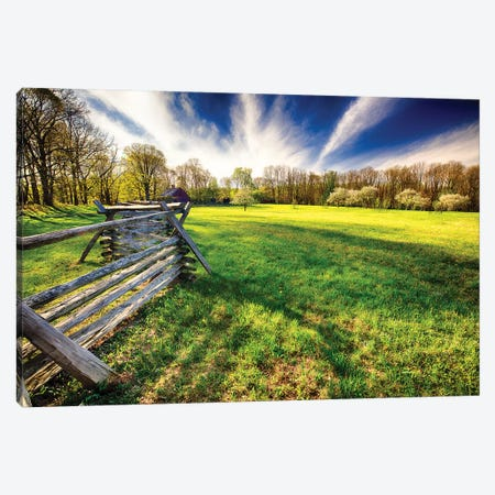 Historic Farm During Spring, Morristown, New Jersey Canvas Print #GOZ293} by George Oze Canvas Artwork