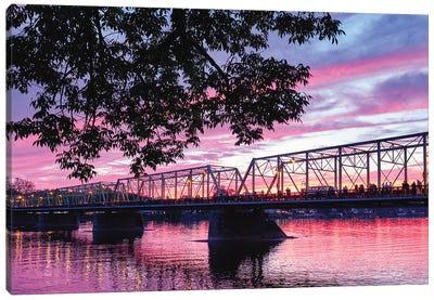 Delaware River Sunset In Lambertville, New Jersey Canvas Art Print