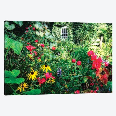 Country Garden, Far Hills, New Jersey Canvas Print #GOZ296} by George Oze Canvas Art Print