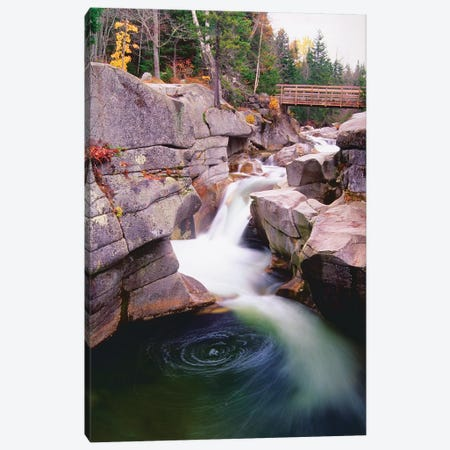 Cascades Of The Ammonoosuc River Canvas Print #GOZ29} by George Oze Art Print