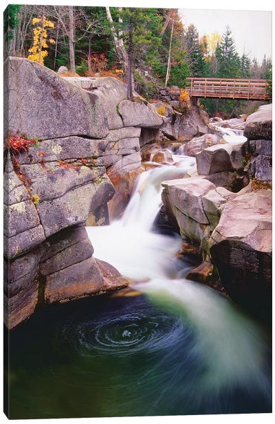 Cascades Of The Ammonoosuc River Canvas Art Print