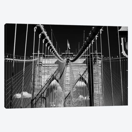 Brooklyn Bridge Impression Canvas Print #GOZ309} by George Oze Canvas Art