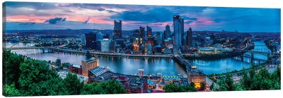 Skyline Panorama Of Pittsburgh Viewed From Mount Washington Canvas Art Print