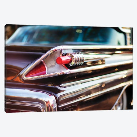 Tail Light Close Up Of A 1958 Mercury Park Lane Sedan Canvas Print #GOZ317} by George Oze Canvas Wall Art
