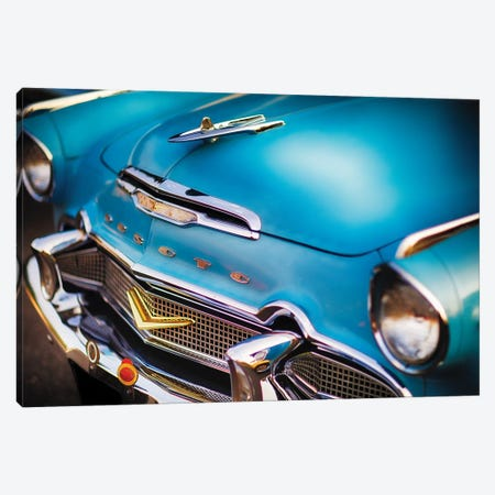 Front Close Up Of A 1956 Desoto Firedome Canvas Print #GOZ319} by George Oze Canvas Art Print