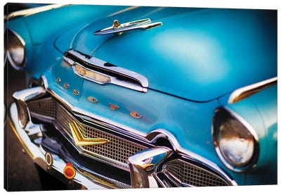 Front Close Up Of A 1956 Desoto Firedome Canvas Art Print