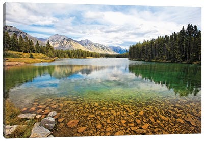 Lake Johnson Tranquility, Banff, Canada Canvas Art Print