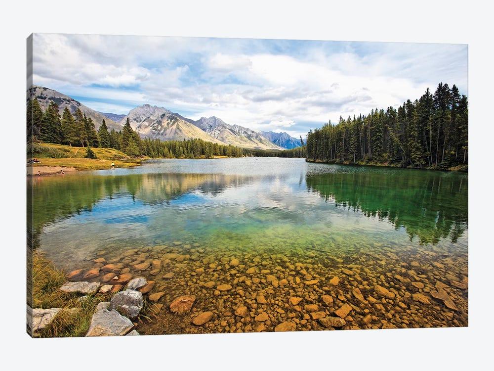 Lake Johnson Tranquility, Banff, Canada by George Oze 1-piece Art Print