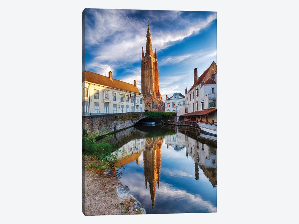 Tranquil Scene In Bruges by George Oze 1-piece Canvas Art Print