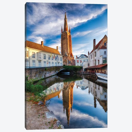 Tranquil Scene In Bruges Canvas Print #GOZ326} by George Oze Canvas Art Print