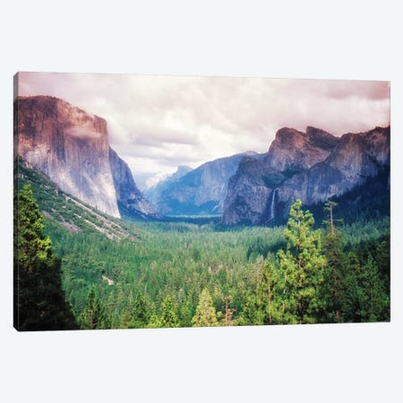 Yosemite Valley Scenic From Tunnel View, California Canvas Print #GOZ328} by George Oze Canvas Wall Art