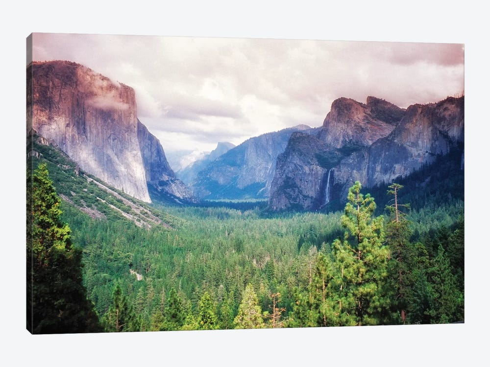 Yosemite Valley Scenic From Tunnel View, California by George Oze 1-piece Art Print