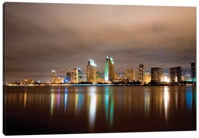 San Diego Night Panorama Canvas Art Print