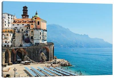 Atrani Beach, Amalfi Coat, Italy Canvas Art Print