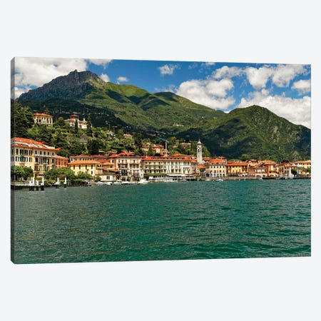 Lakeside View Of Bellagio On Lake Como Canvas Print #GOZ338} by George Oze Canvas Print