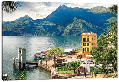 Varenna Harbor On Lake Como, Lombardy, Italy Canvas Art Print