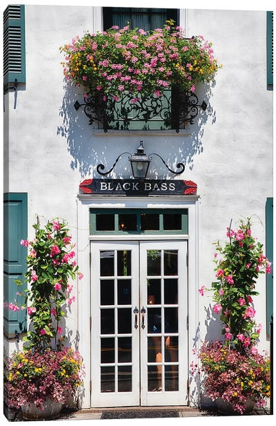 Charming Country Inn Entrance Canvas Art Print