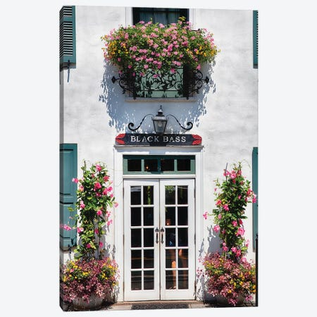 Charming Country Inn Entrance Canvas Print #GOZ33} by George Oze Canvas Artwork
