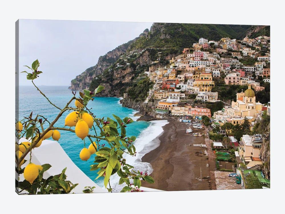Positano Spring View, Amalfi Coast, Italy by George Oze 1-piece Art Print