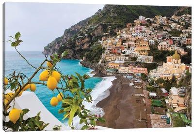 Positano Spring View, Amalfi Coast, Italy Canvas Art Print
