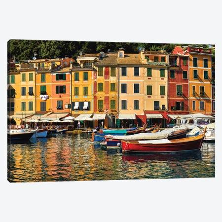 Portofino Harbor Scene, Liguria, Italy Canvas Print #GOZ347} by George Oze Art Print