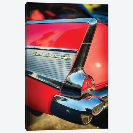 Chevy Bel Air Tail Fin  Canvas Print #GOZ34} by George Oze Canvas Art Print