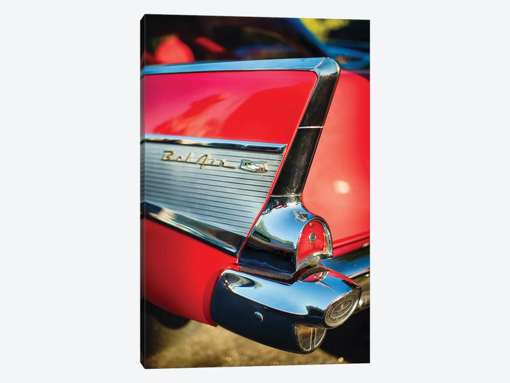Chevy Bel Air Tail Fin  by George Oze 1-piece Canvas Artwork