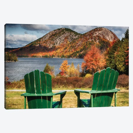 Two Adirondack Chars At Jordan Pond, Mt, Desert Island, Acadia National Park, Maine Canvas Print #GOZ350} by George Oze Canvas Print