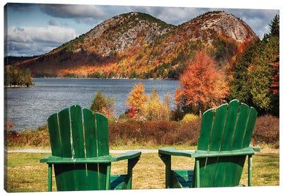 Two Adirondack Chars At Jordan Pond, Mt, Desert Island, Acadia National Park, Maine Canvas Art Print
