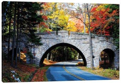 Stone Bridge Over A Carriage Road, Acadia National Park, Maine Canvas Art Print