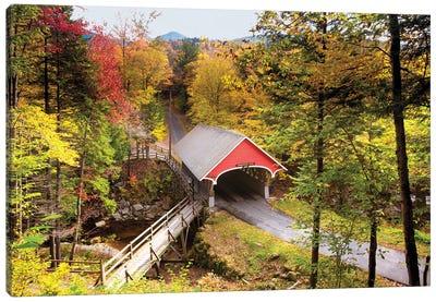 The Flume Covered Bridge, New Hampshire. Canvas Art Print