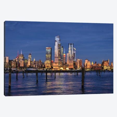 Midtown Manhattan At Dusk, New York City Canvas Print #GOZ357} by George Oze Canvas Art