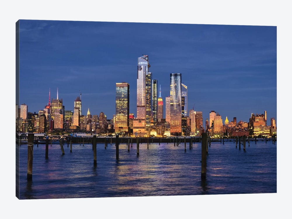 Midtown Manhattan At Dusk, New York City by George Oze 1-piece Canvas Art Print
