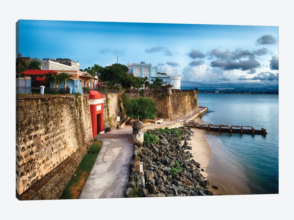 The The City Gate And The La Fortelaza Building In Old San Juan, Puerto Rico by George Oze 1-piece Art Print