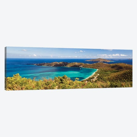 Panoramic Aerial View Of Magens Bay, St Thomas, Us Virgin Islands Canvas Print #GOZ363} by George Oze Canvas Art